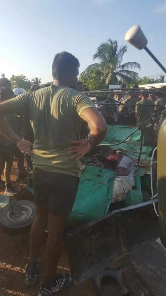 Reckless driving by Sri Lankan military, 3 Tamils killed